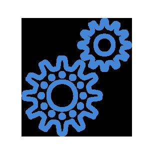 Five feature icon - build